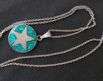 Turquoise and Sterling Necklace