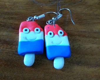 Red White And Blue Popcicle Earrings