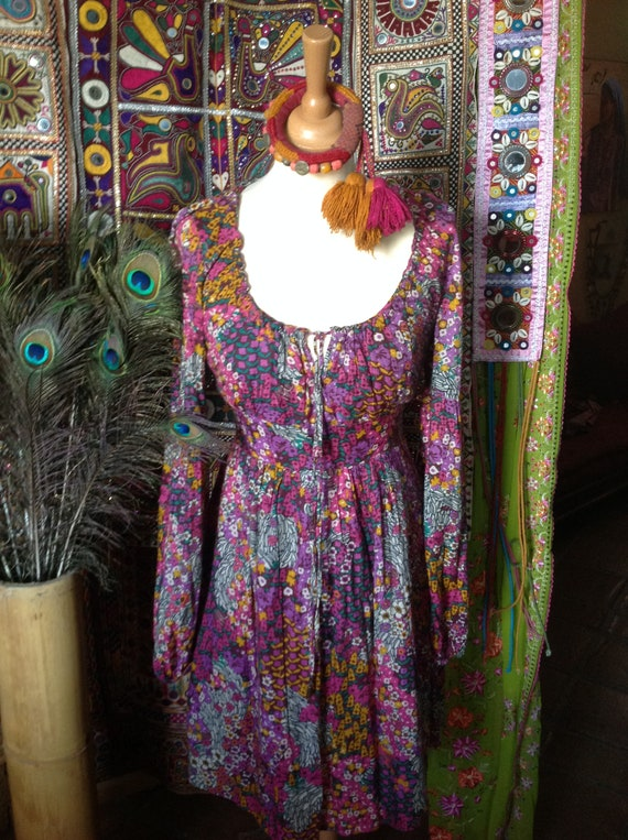 BOHO gypsy floral vintage dress