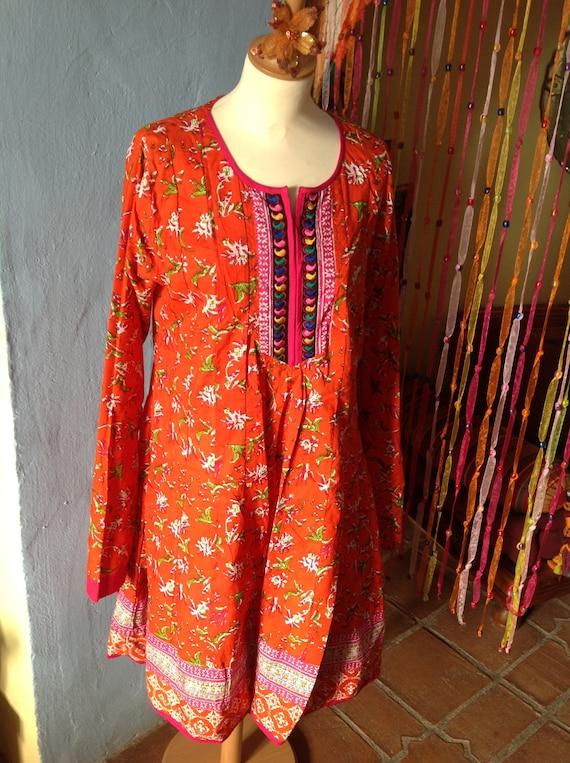 SWEET  BOHEMIAN BOHO ethnic Indian dress