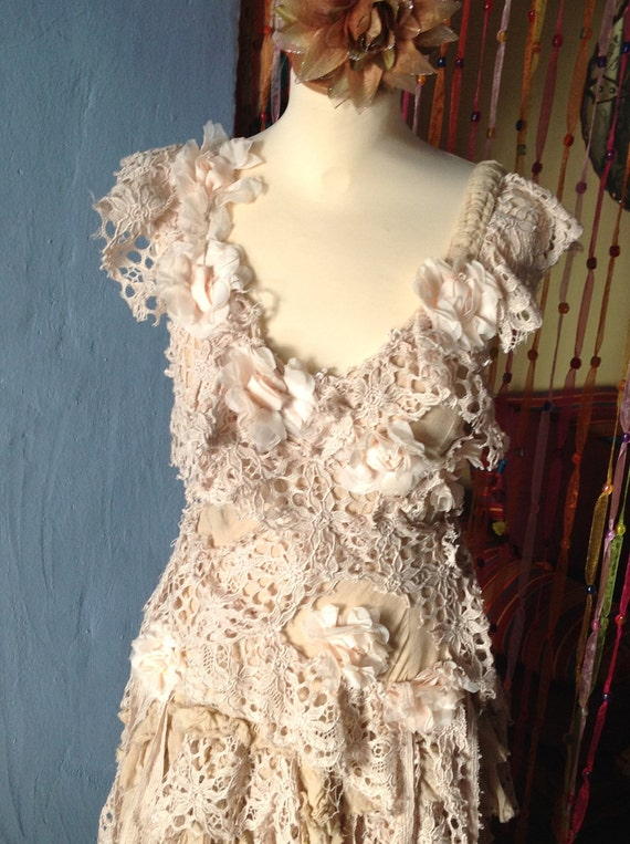 OOAK GYPSY hippie  boho wedding dress
