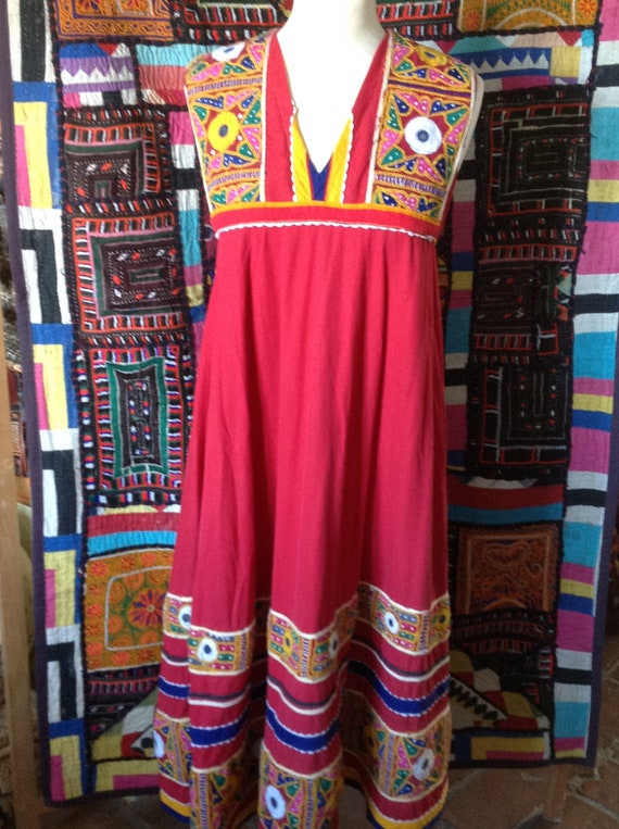 BOHO  ETHNIC hippy  embroidered indian dress