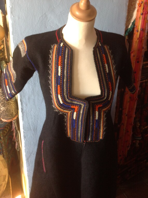 1930s , 40s HUNGARIAN EASTERN GYPSY tribal embroi… - image 3