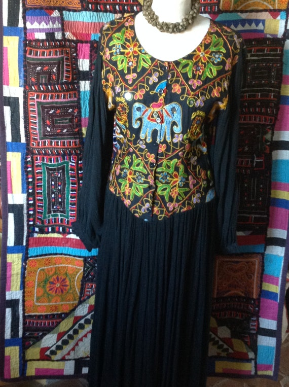 ETHNIC GYPSY Embroidered hippy  indian dress