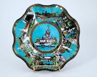 Vintage 1970's Disney World Magic Kingdom Souvenir Plate