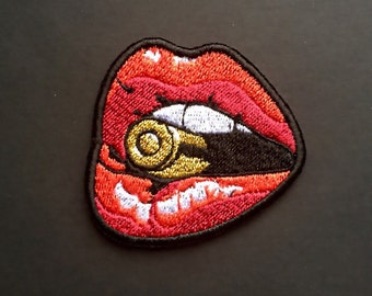 Wave patch iron on embroidered patches applique embroidery etsy
