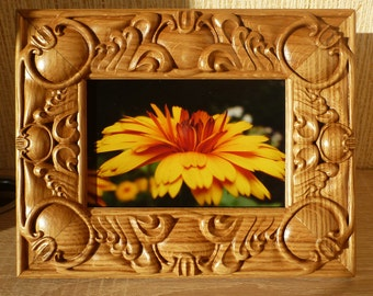 Wooden Photo Frame 4 x6 Russian Baroque Oak Wood Carving Picture Frame For 4x6 Photo Home Decor