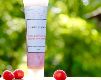 """Moisturizing Face Wash for Sensitive Skin - """"Sweet Raspberry Soy Softening Facial Cleanser"""""""