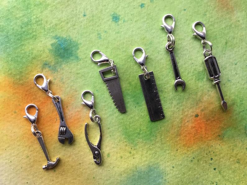 Fathers Day Gift Tool Box Handyman Charm Set