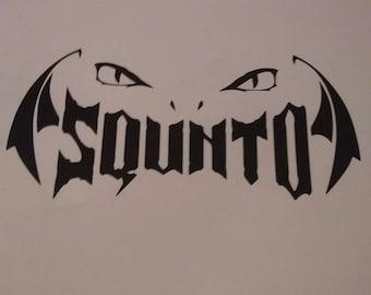 Squinto vinyl decal