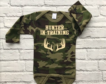 0679f1d1d797f Camo Baby Clothes -Hunting Baby - Baby Boy Clothes - Baby Hunting Clothes - Camo  Baby - Hunting Baby Boy - Hunter in Training
