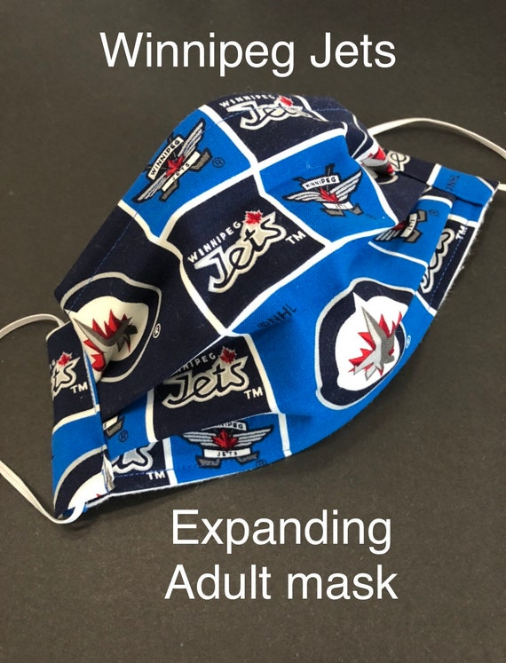 Winnipeg Jets Adult Face Mask With Nose Wire Washable Etsy