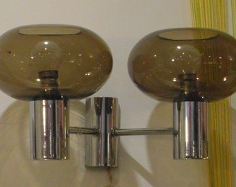 Gaetano Sciolari style wall lamp with brown blown bulbs. Italian vintage '60.
