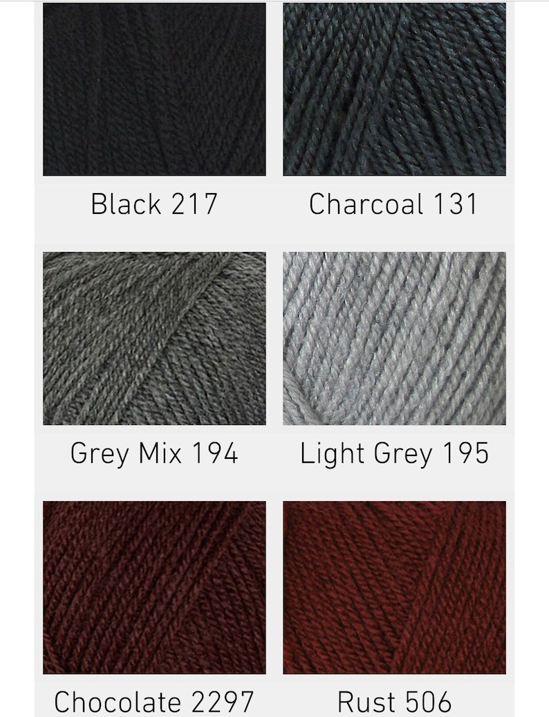Cygnet DK Double Knitting Acrylic Yarn 506 RUST Wool 100g
