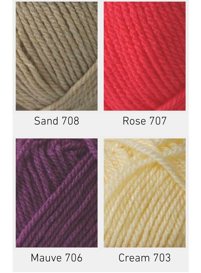 Wool 50g 708 Sand Cygnet Baby Pato DK Double Knitting Acrylic Yarn