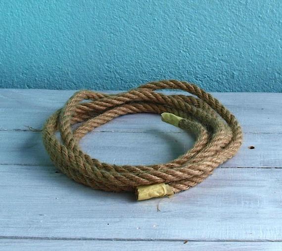 Corde pieds/10 en chanvre naturel, 50 mètres/164 pieds/10 Corde mm twist, décor rustique 136353