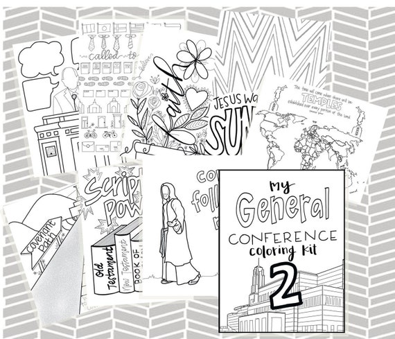 General Conference Coloring Kit 2 0 General Conference Packet
