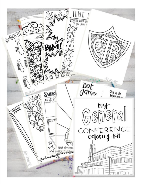 General Conference Coloring Kit General Conference Packet