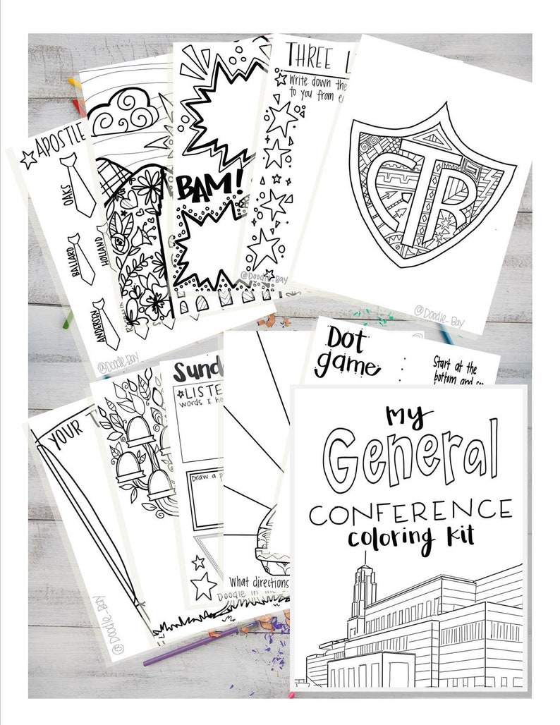 General Conference Coloring Kit General Conference Packet Etsy