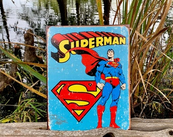 Swamp Thing DC comic metal tin sign garden reproductions for home