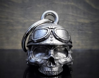 897a3399 3-D Motorcycle Helmet Skull Deluxe Ride Bell Lucky Charm Key chain Biker  Harley Motorcycle