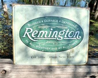 Remington  Western Vintage Aluminum Sign