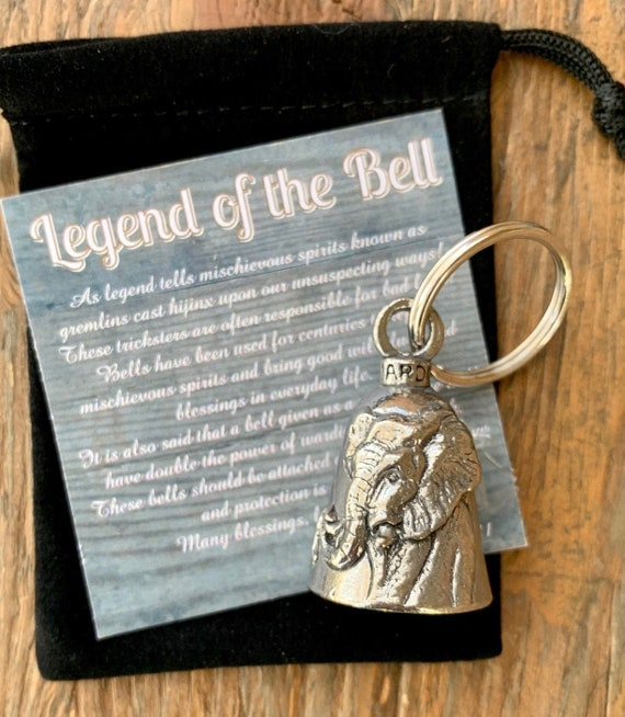 Sea Turtle GUARDIAN Bell of Good Luck fortune pet keychain gift