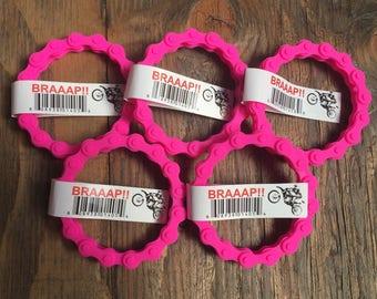 5 MX PINK CHAIN Wristband Bracelets