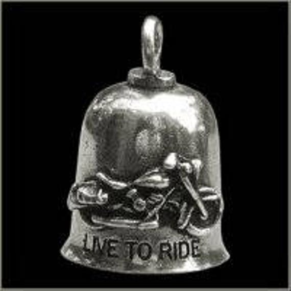 ST CHRISTOPHER MOTORCYCLE GREMLIN RIDE PEWTER BELL MADE IN USA