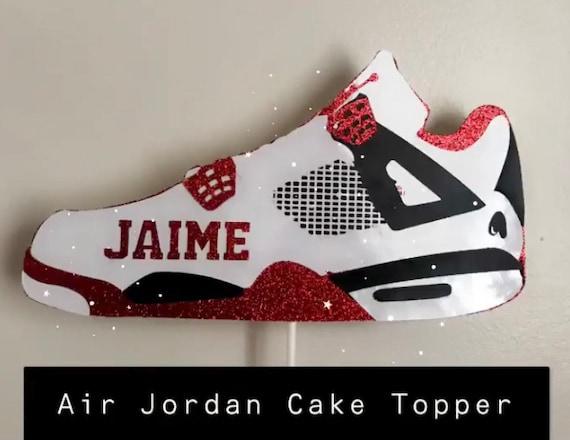 Jordan Shoe Cake Topper Shoe Topper Birthday Cake Decor   Etsy