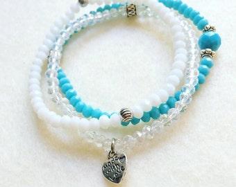 Amber stack bracelets