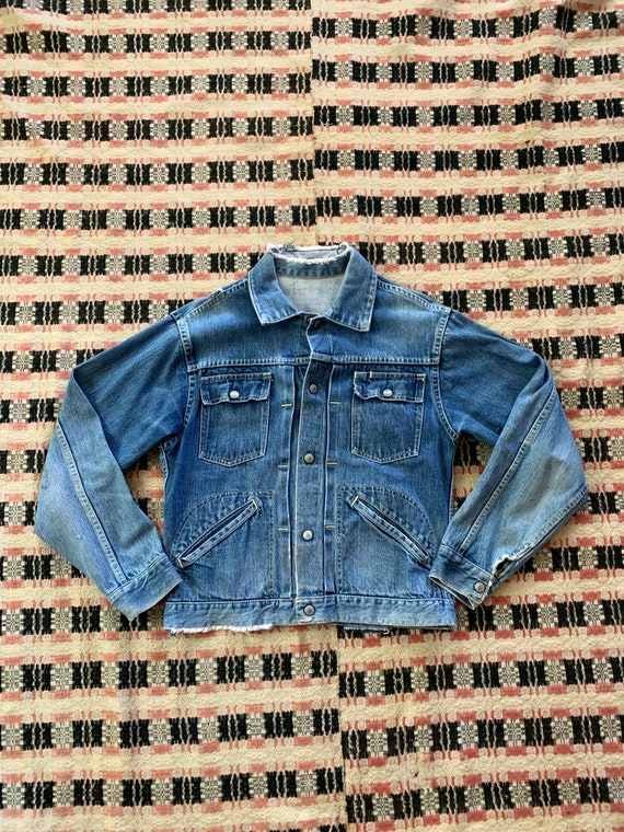 1950s Jcpenny Foremost Selvedge Denim JEan Jacket