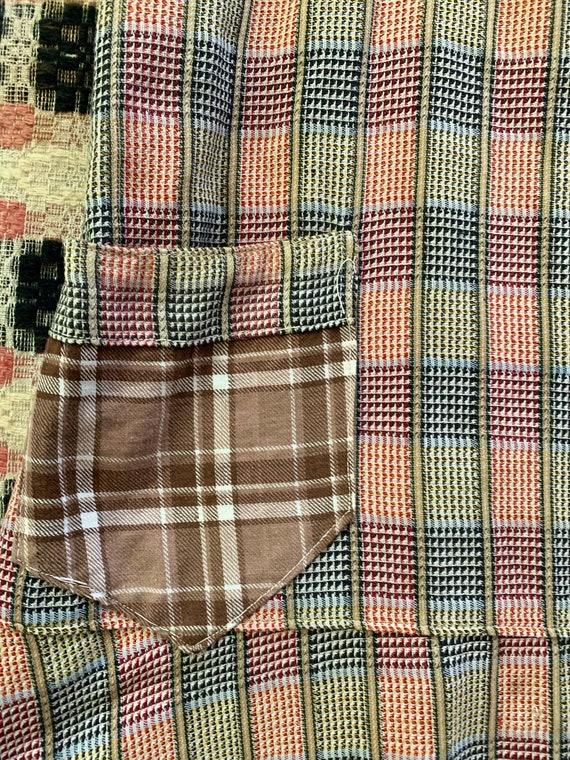 1930s Plaid Apron / Chore Dress / Work Dress - image 4