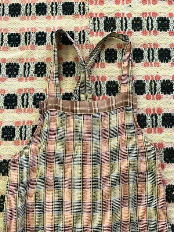 1930s Plaid Apron / Chore Dress / Work Dress - image 3