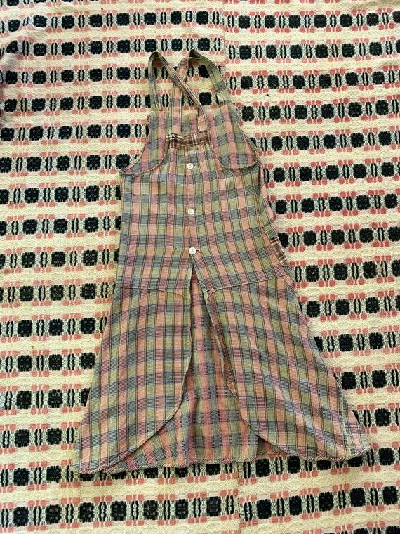 1930s Plaid Apron / Chore Dress / Work Dress - image 6