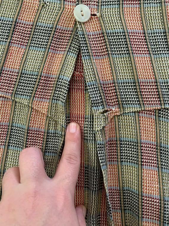 1930s Plaid Apron / Chore Dress / Work Dress - image 10