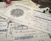 Interesting set of 8 Antique French Mainly handwritten paying Certificates of big French enterprises, dated 1930 39 s.