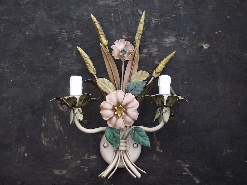 Vintage French country wall sconce finds on Etsy.