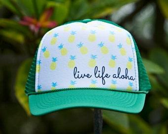 Live Life Aloha Trucker Hat