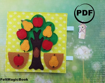 ORCHARD | FOR CHILDREN | Busy Book | Quiet Book | Felt Busy Book | Toddler book | Activity Book | Fabric quiet book | for Kids