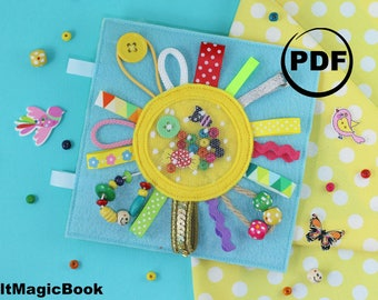 SUN| FOR CHILDREN | Busy Book | Quiet Book | Felt Busy Book | Toddler book | Activity Book | Fabric quiet book | for Kids