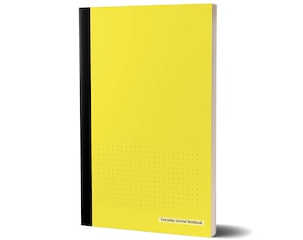 Everyday Journal Notebook, Dotted Grid (Yellow Cover), Bullet Journal, 47A1975717546