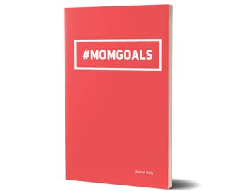 Mom Goals Journal, Red, Lined Journal, 47A1546520562