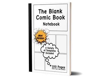 The Blank Comic Book Notebook, Special Mini Version, Draw Your Own Comics,47A1979206651