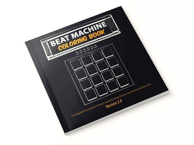 Beat Machine Coloring Book Version 2 Electronic Music | Etsy