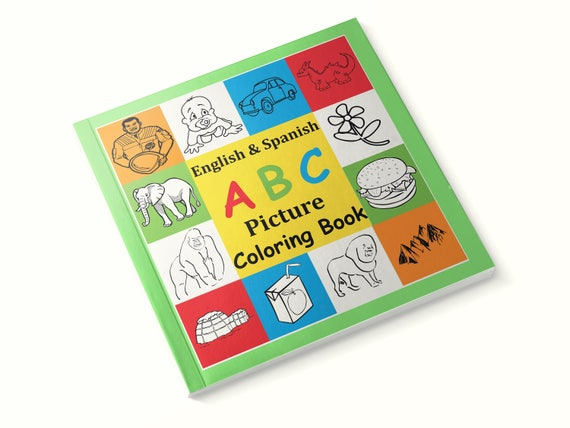 English and Spanish ABC Picture Coloring Book, Bilingual Book , Gifts for  Kids, Journals for Boys, Journals for Girls, Childrens books