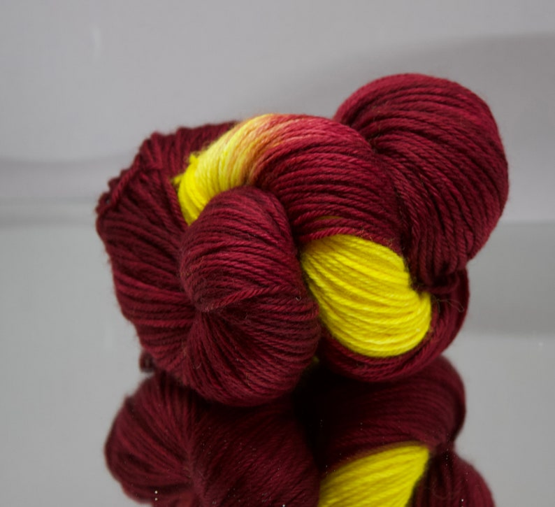 Hand dyed Worsted/DK/Fingering yarn  Fire Up Chips Harry image 0