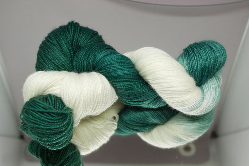 Hand dyed Worsted/DK/Fingering yarn  Sparty On  Michigan image 0