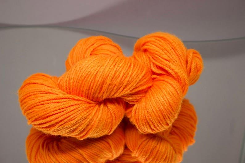 Hand dyed worsted  Hunter's Orange  100% Superwash image 0