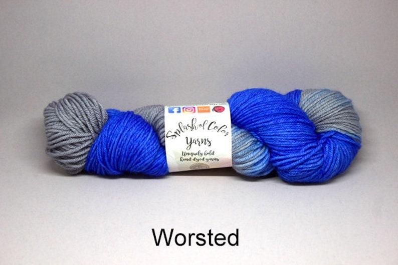 Hand dyed Fingering/DK/Worsted yarn  Let's Roar  Detroit image 0